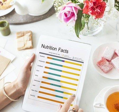 chic woman: Nutrition Facts Comparison Food Dietery
