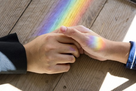 Togetherness Wooden Prism Light Cares Stock Photo
