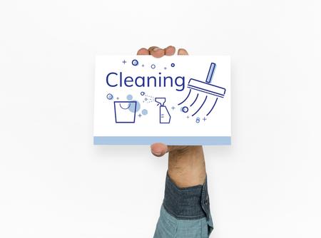 위생적인 청소 위생의 그림 스톡 콘텐츠