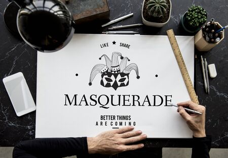 pseudonym: Masquerade Incognito Mystery Anonymous Disguise Hidden Mask Graphic
