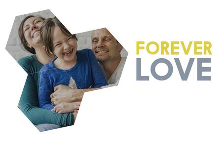 curare teneramente: Tempo di qualità della felicità dell'amore di famiglia insieme