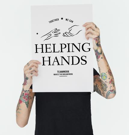 돕는 손 지원 팀의 그림