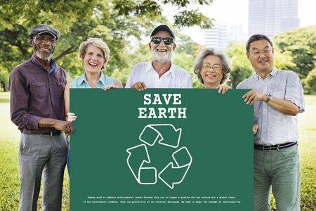 지속 가능한 환경 생태학 자연 재활용 행성 스톡 콘텐츠