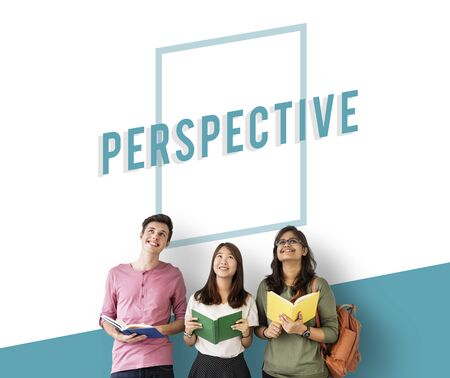 Perspective Overview  Objective Mindset Icon Фото со стока