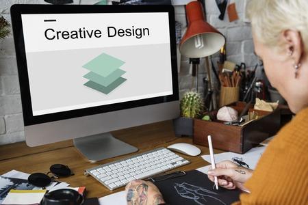 Creative Design Imagination Inspiration 3D Paper Banco de Imagens