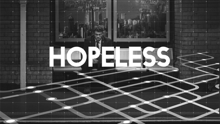 hopeless: Depressed Hopeless Recession Stressed Sadness