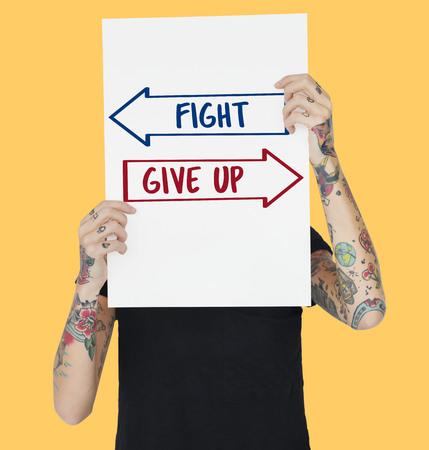 Pijl tegenover de keus gevecht geef pictogram op