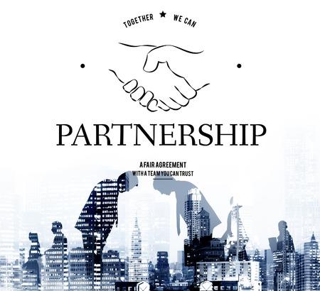 파트너십 팀웍 지원 협력 성취 조직 핸드 셰이크 그래픽