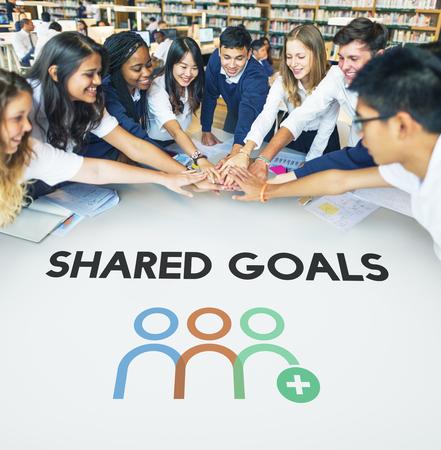 Teamwork Shared Goals Togetherness Collaboration Stock Photo
