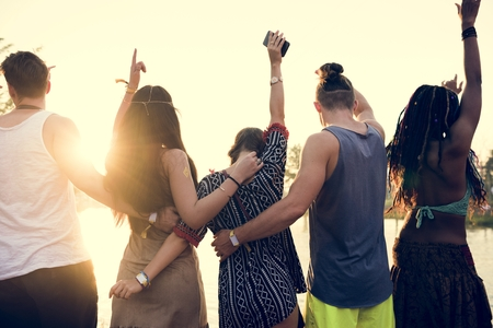 People Standing Together Unity Friendship Reklamní fotografie