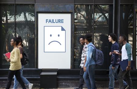 Tristesse fail problème récession récession frustration icône Banque d'images - 82049136