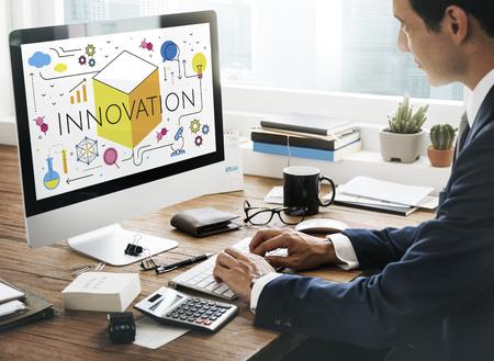Illustration of innovation technology invention Stock Illustration - 82015003