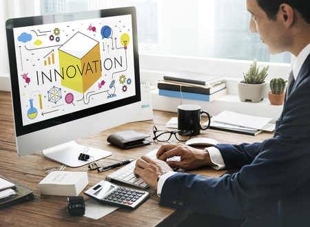Illustrazione di invenzione della tecnologia innovazione Archivio Fotografico - 82015003