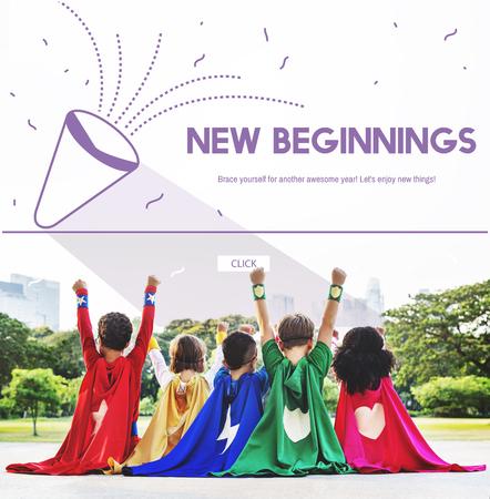 Holiday New Beginnings Celebration Start Up Stock Photo