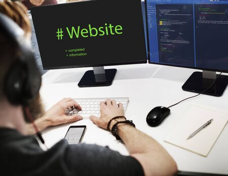 Web Design Coding Program Content Graphic Stock Photo