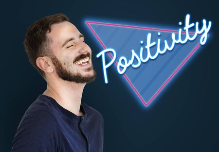 Positivity Optimistic Attitude Word Stock Photo