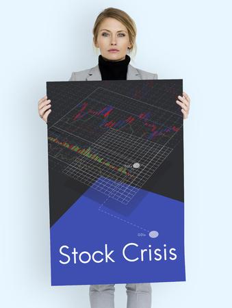 Stock Crisis Recession Loss Decrease Graph Stock Photo