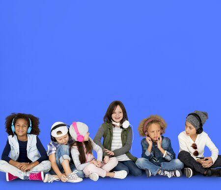 techie: Studio People Model Shoot Kid Children Stock Photo