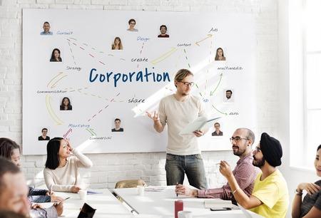 Illustration of business company corporation