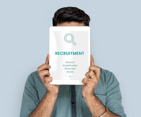 techie: Employment Career Hiring Recruiting Conept Stock Photo