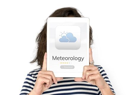 天気予報気象アプリケーションの概念 写真素材 - 81921400