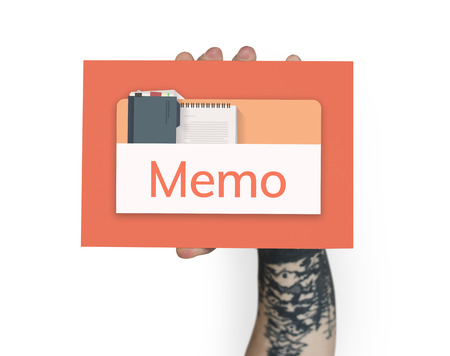 Illustration of personal organizer notepad on banner Stock Photo