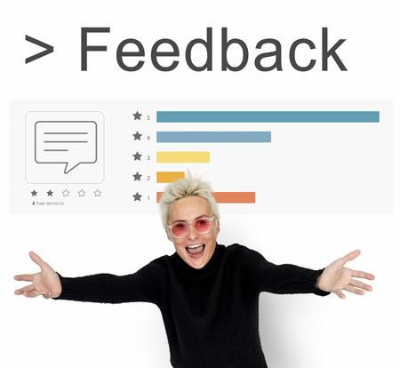 Feedback Response Evaluation Umfrage Bericht Standard-Bild - 81921588