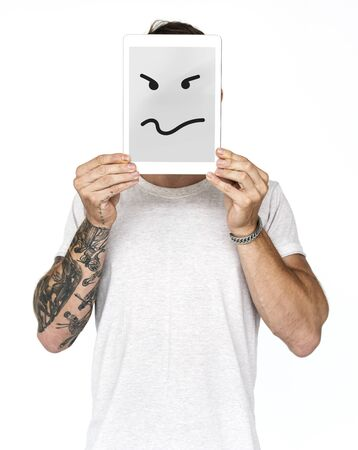 Mad Angry Furious Wrath Feeling Emotion Expression  Graphic Stock Photo