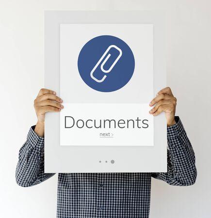 Paper Clip Mail File Attachment Graphic Reklamní fotografie