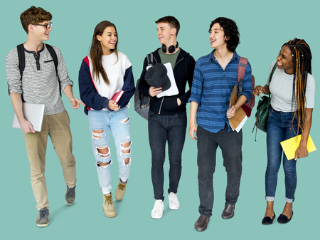 Group of Diverse High School Students Studio Portrait Zdjęcie Seryjne