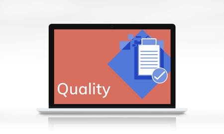 Quality Assurance Control Development Guarantee Stock Photo