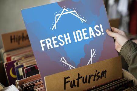 Inspiration Fresh Ideas Dream Word Stock Photo
