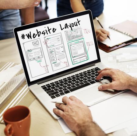 웹 사이트 개발 레이아웃 스케치 도면