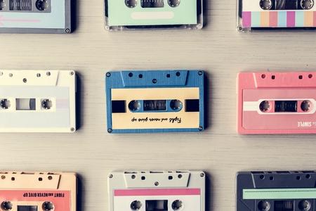Kassette Vintage Set Sammlung Standard-Bild - 82066231