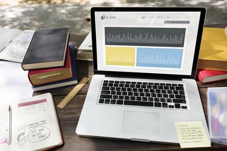 Illustratie van business performance onderzoeks grafiek