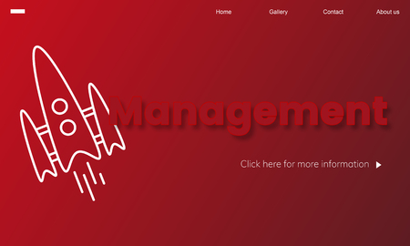 Webpage with management concept 版權商用圖片
