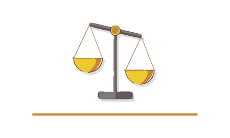 Illustration of justice scale rights and law Banco de Imagens - 81970134