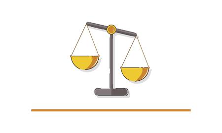 Illustrazione di giustizia scale e Legge Archivio Fotografico - 81970134