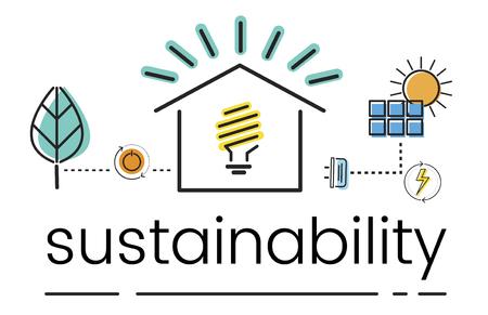 Medio Ambiente Sostenibilidad Eco Friendly Concept Foto de archivo - 81970631