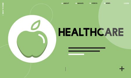 Webpage with healthcare concept