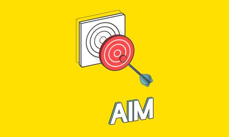 Goal focus aim sucess graphic Stock Photo