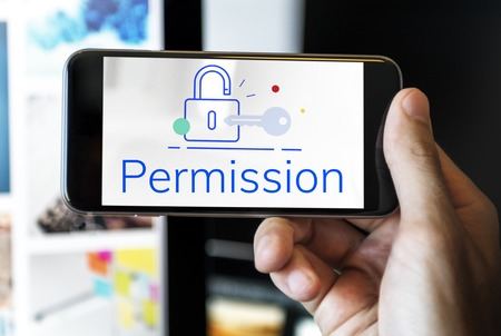 Lock Key Data Protection Security Graphic Stock Photo