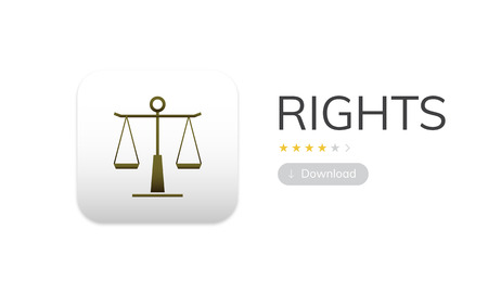 Law rights concept in graphic Stok Fotoğraf