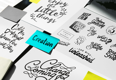 Paper Showing Creative Ideas Word Artwork