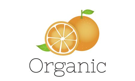 Illustration of fresh organic orange