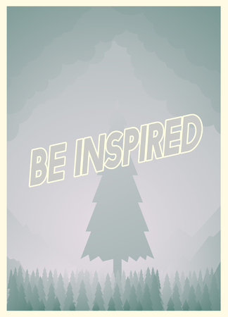 Graphic with be inspired concept