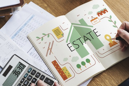 Real Estate House Property Residence Concept Banco de Imagens - 82020817