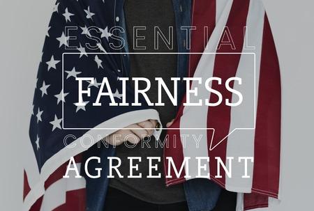 Fairness agreement freedom rights liberty Stok Fotoğraf