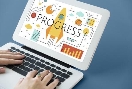 Business Objectives Goals Progress Improvement Concept Zdjęcie Seryjne