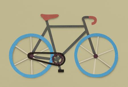 自転車自転車趣味アイコン シンボル 写真素材